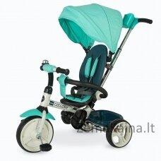 Vaikiškas triratis 2in1 paspirtukas - dviratukas Coccolle Urbio - Turquiose