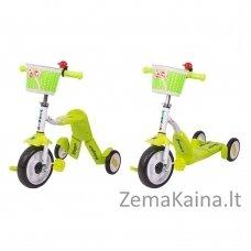 Vaikiškas triratis 2in1 paspirtukas - dviratukas Worker Blagrie - Green