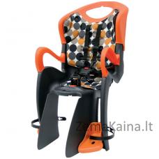 Vaikiška dviračių kėdutė AUTHOR Tiger (Juoda/Oranžinė)