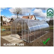 Vamzdelinis arkinis šiltnamis KLASIKA TUBE 6 m2 (3x2 m) 4 mm