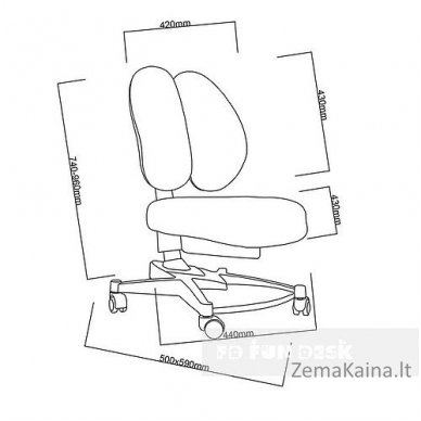 Vaikiška kėdė FunDesk Contento Grey 7