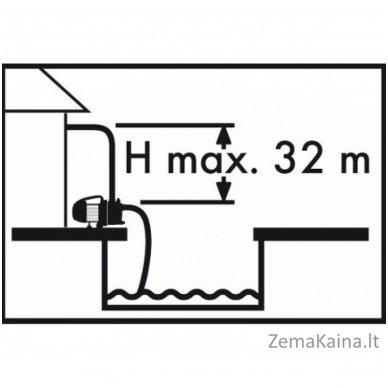 Vandens siurblys 600W Grizzly GP 3032 Inox 3