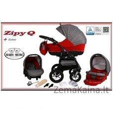 Vežimėlis BabyMerc 3 in 1 ZIPY-Q Red