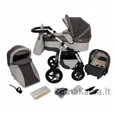 Vežimėlis BabyMerc Q9 3 in 1 Grey