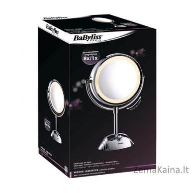 Veidrodis BABYLISS Warranty 24 month(s), Stainless steel, Mirror, 20.5 cm 2