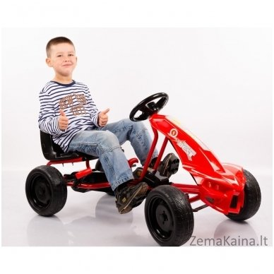 Velomobilis (Velomobile) Go-Kart A-18 Red (5-12 years) 3