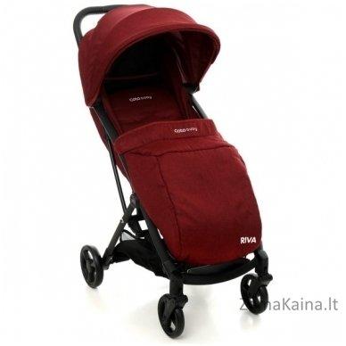 Vežimėlis Coto Baby Riva Linen Red 7