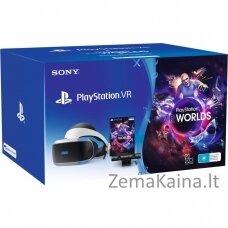 Virtualūs akiniai Sony PlayStation VR + Camera + VR Worlds Voucher Specialus ant galvos dedams ekranas Juoda, Balta 610 g
