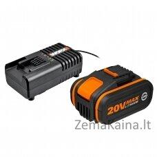 WORX WA3604 elektrinio įrankio baterija ir  įkroviklis